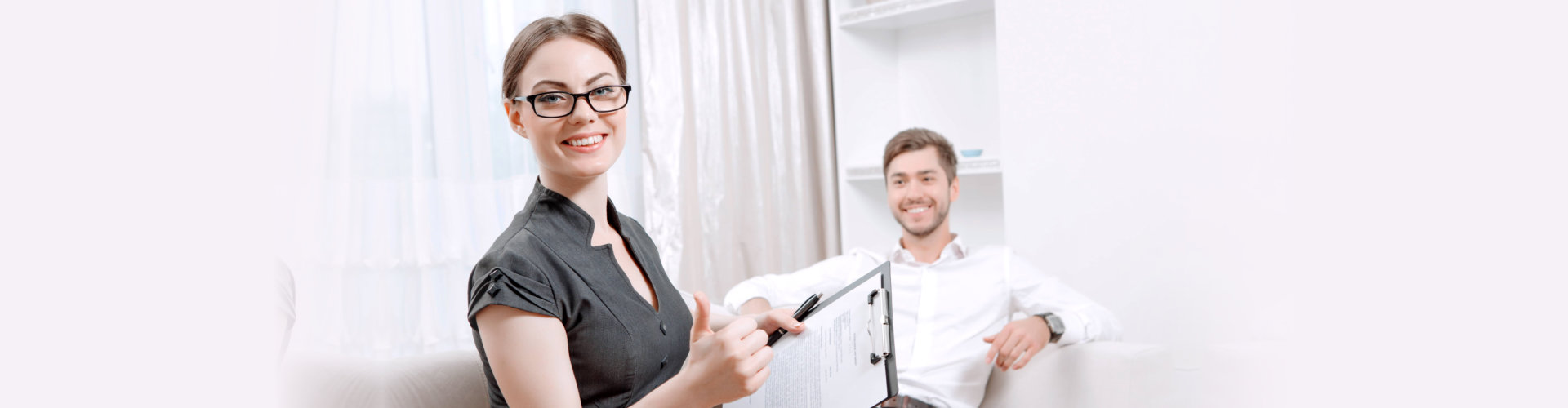 female therapist and male therapist at the office